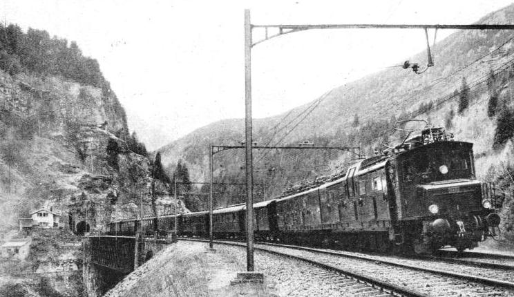 AN ELECTRICALLY HAULED EXPRESS on the St. Gothard line