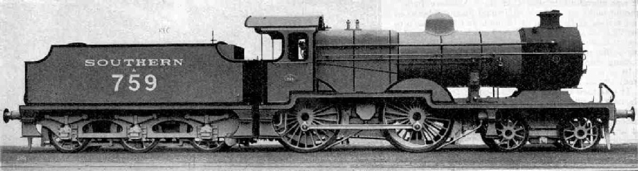 Latest type L class 4-4-0 express engine