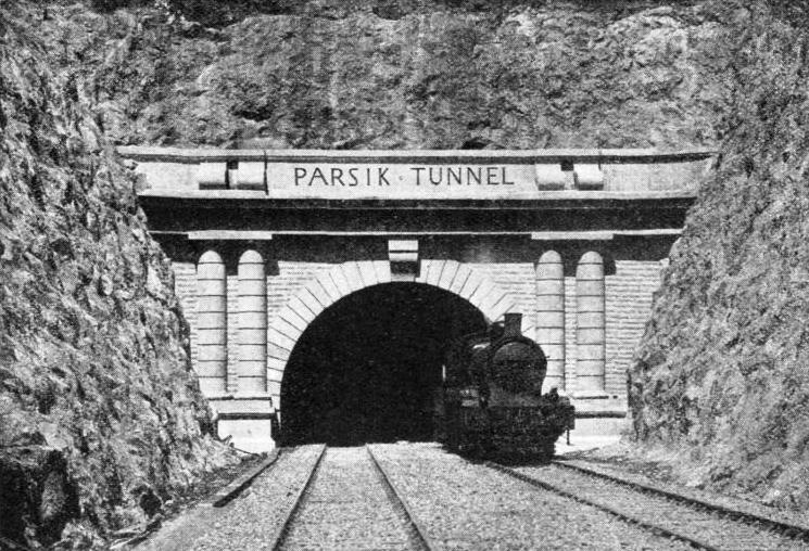 THE PARSIK TUNNEL on the Great Indian Peninsula Railway