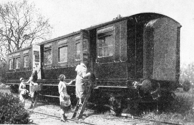 TAKING POSSESSION of a camping coach