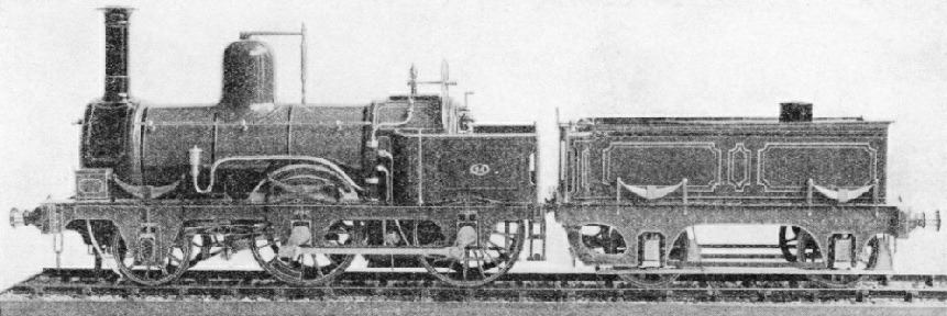 An engine built at Cardiff for the Taff Vale Railway