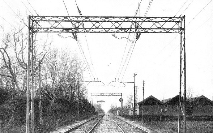 "SECTION OF ELECTRIFIED TRACK on the ""Direttissima"""