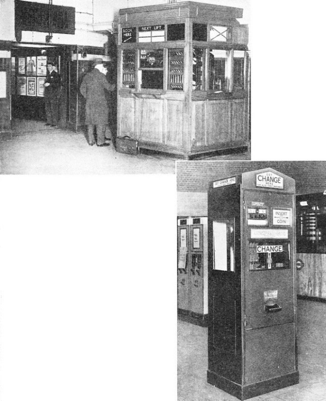 ticket and change machines