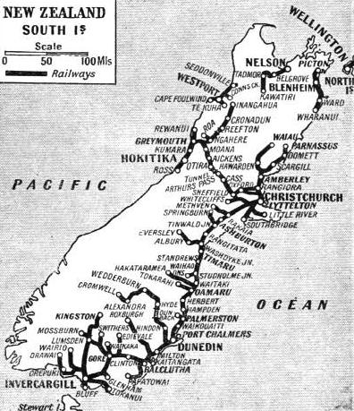 The railways of South Island, New Zealand