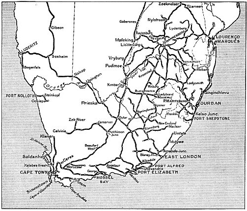 OVER 13,000 MILES OF TRACK are controlled by the South African Railways and Harbours