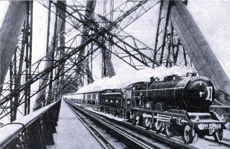 THE FAR NORTH EXPRESS CROSSING THE FORTH BRIDGE
