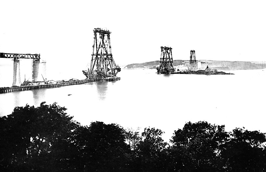 GENERAL VIEW OF THE FORTH BRIDGE FROM THE SOUTH SHORE