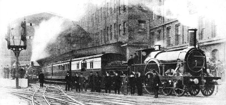 The last broad gauge train about to leave Paddington Station