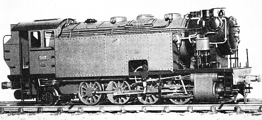 A TANK LOCOMOTIVE which operates on Mr G. P. Keen's railway