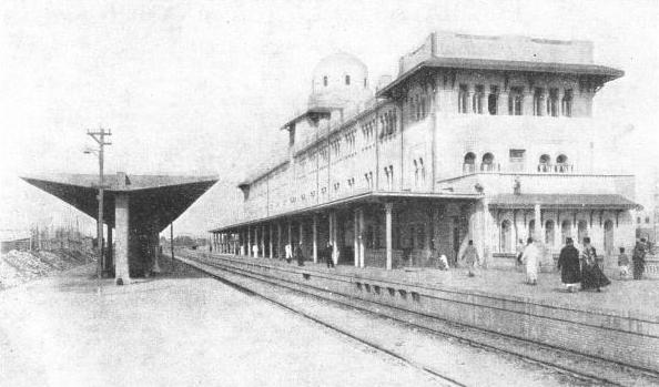 Tanta station, on the main line between Alexandria and Cairo