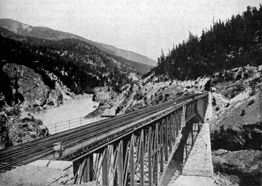THE BRIDGE OVER FRASER CANYON