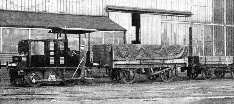 A 15-TONS DIESEL LOCOMOTIVE of 100 hp built by Sir W. G. Armstrong-Whitworth and Co.