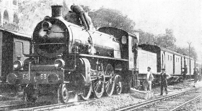 "in Italy 2-6-2 locomotives of the type illustrated are employed extensively for fast passenger trains, including the ""Rome Express"""
