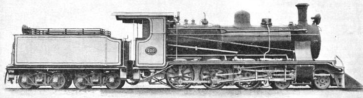 A 4-6-0 PASSENGER LOCOMOTIVE on the Great Western of Brazil Railway