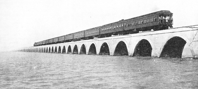 THE HAVANA SPECIAL EXPRESS crossing the two-and-a-half miles stretch of Long Key Viaduct