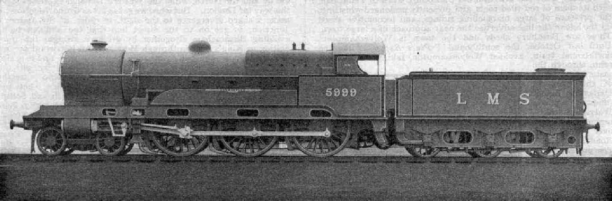 No. 5999  Vindictive, one of the re-boilered Claughtons
