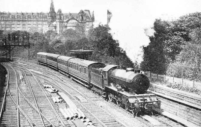 the up Kirkcaldy train passing through Princes Street Gardens, Edinburgh