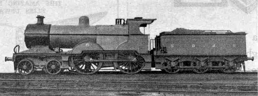 Locomotive No. 70, 4-4-0 type, Somerset and Dorset Joint Railway