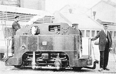 one of the 0-4-0 narrow-gauge tank locomotives in operation on a private railway at St. James's Gate Brewery