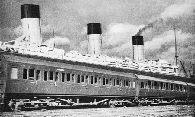 An ocean liner express at Southampton
