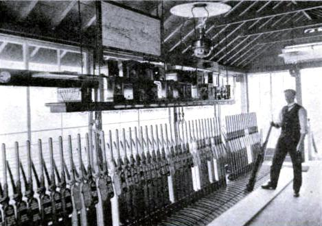 Interior of Loversall Carr Signal Box, Great Northern Railway