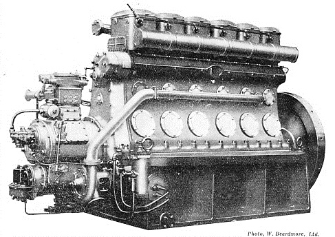 a Beardmore high-speed Diesel engine