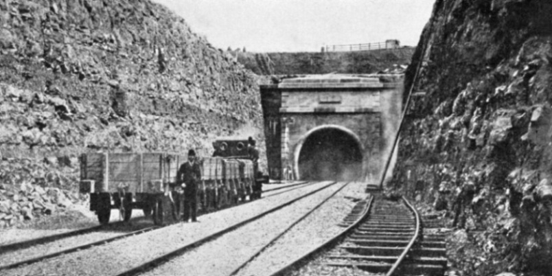 The Monmouthshire end of the Severn Tunnel