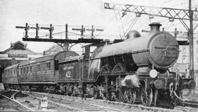 ENGINE NO. 422 OF THE SOUTHERN RAILWAY LEAVING VICTORIA