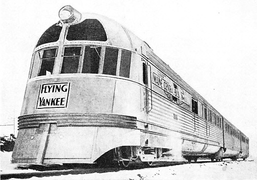 """FLYING YANKEE"" is the Boston and Maine Railroad's new three-car high-speed unit"