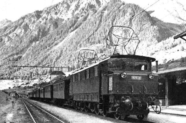 AN ELECTRIC EXPRESS LOCOMOTIVE on the Austrian Federal lines