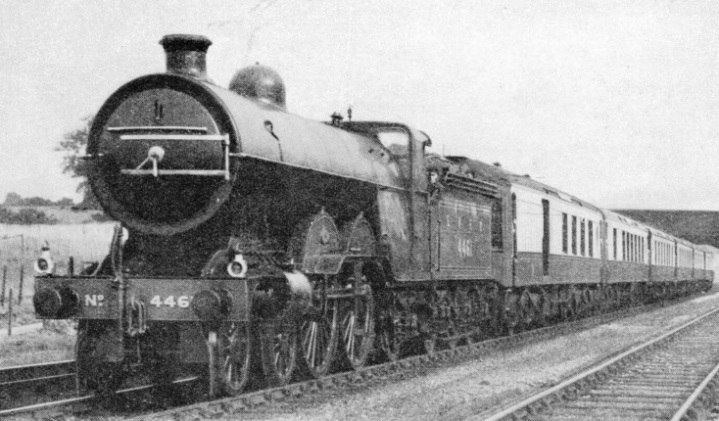 "Ivatt's large-boilered ""Atlantic"" of 1902 seen on the ""Queen of Scots"" Pullman express"