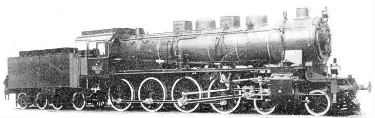 "German-built 4-8-0 used on the ""Taurus Express"""