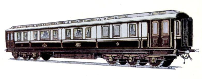 CAR USED BY HIS MAJESTY THE KING, LONDON & NORTH WESTERN RAILWAY