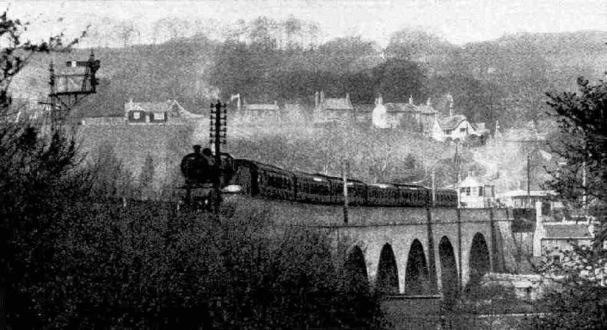 The Pines Express crossing Midford Viaduct