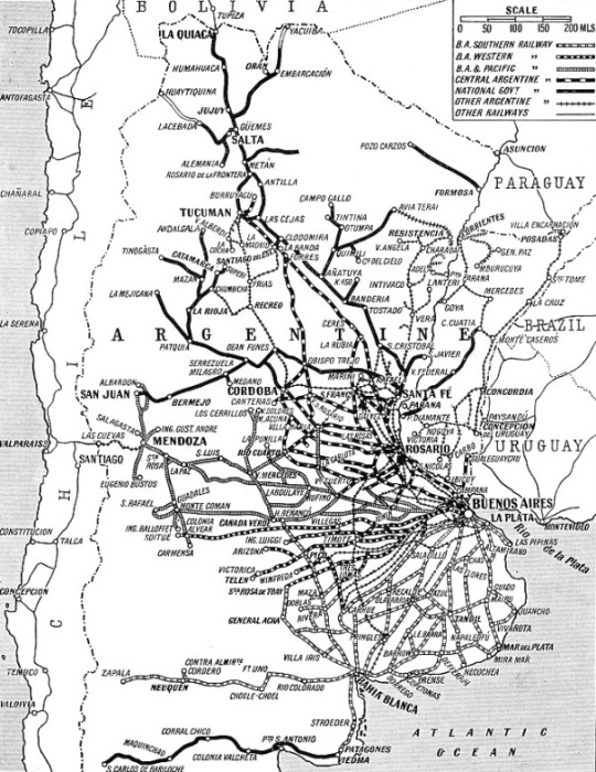 THE CHIEF ROUTES of the several railway systems in the Argentine Republic