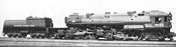 An oil-burning locomotive used on the Southern Pacific Railroad