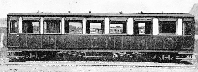 A THIRD-CLASS SALOON on the Isle of Man Railway