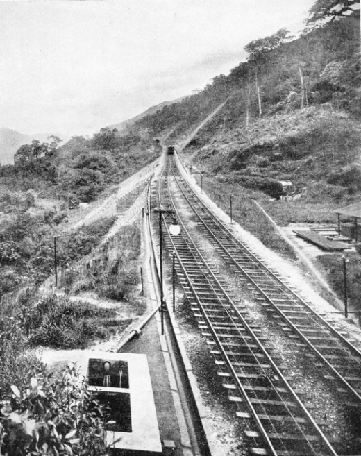 A PASSING POINT ON AN INCLINE on the Sao Paulo Railway