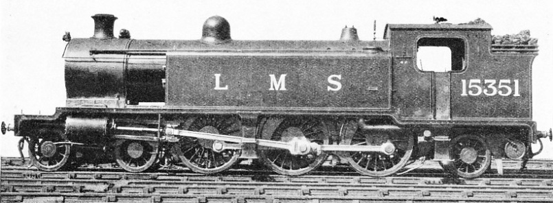 Superheated LMS tank locomotive, formerly owned by the Caledonian Railway