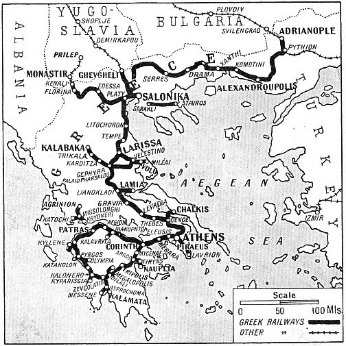 THE RAILWAY SYSTEM of Greece