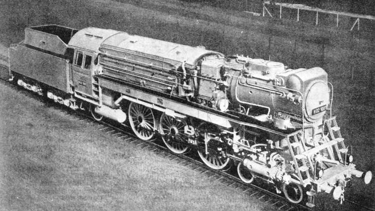 This 4-6-2 locomotive was built experimentally for the German State Railways