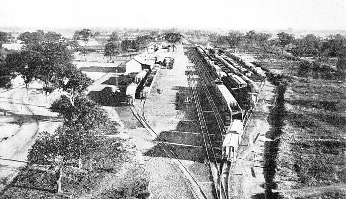 LOOKING SOUTH towards Victoria Falls at Broken Hill Railway Station