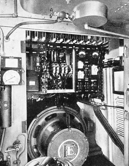 "THE GENERATOR AND CONTROL PANEL of an ""English Electric"" Diesel-electric locomotive"
