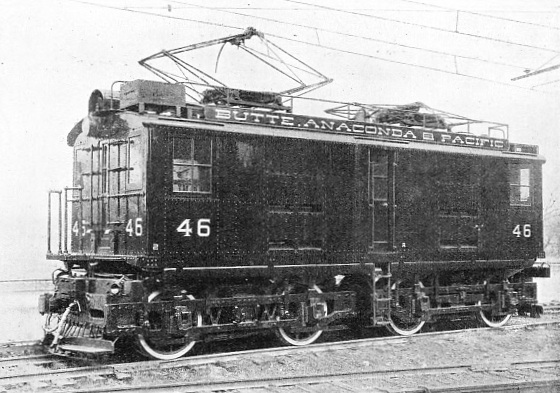 A 2,400-VOLT 0-4-4-0 ELECTRIC LOCOMOTIVE OF THE BUTTE, ANACONDA AND PACIFIC RAILWAY