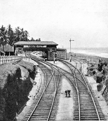 MOUNT LAVINIA STATION in south-west Ceylon
