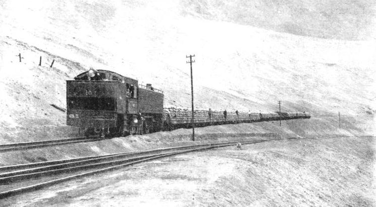 NITRATE TRAIN hauled by a powerful tank locomotive