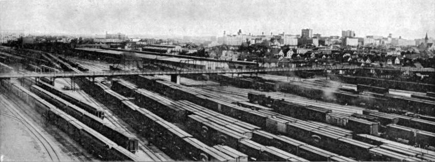 part of the 120 miles of sidings belonging to the CPR at Winnipeg