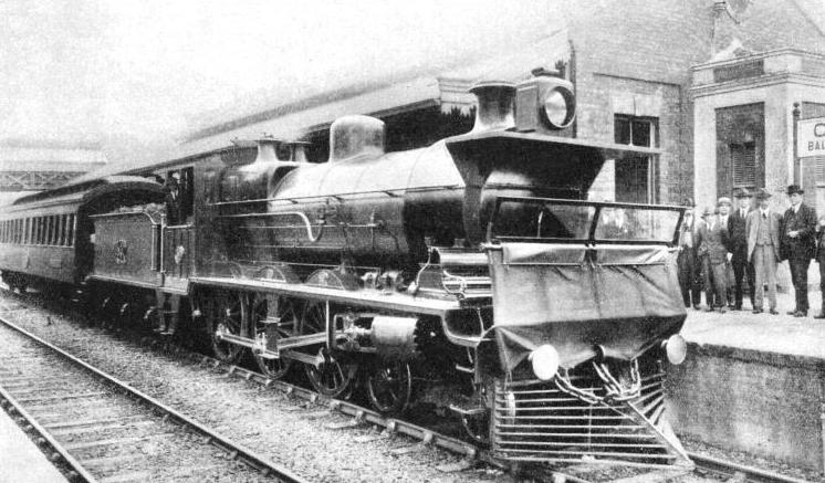 A SPECIAL STAFF TRAIN at the station of Campo Limpo on the Sao Paulo Railway