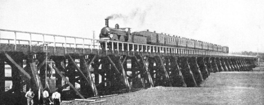 THE LAST TRAIN to cross the old bridge at Shoreham