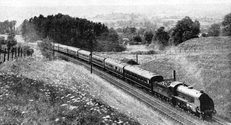 A WEST OF ENGLAND EXPRESS climbing the formidable Honiton bank to the west of Salisbury